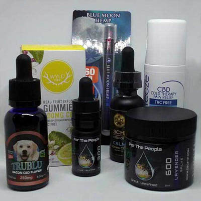 CBD Products - isolate, broad-spectrum, and full-spectrum internal and external products