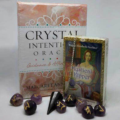 Divination tools - tarot decks, oracle cards, and runes