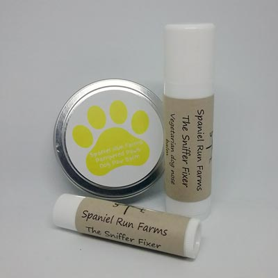 Skincare products for dogs by Spaniel Runs Farm