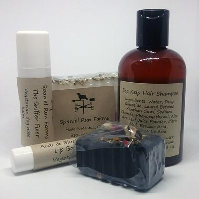 Natural skincare and hair products by Spaniel Runs Farm