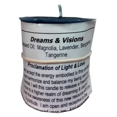 Dreams and Visions votive candle by Sacred Path Candles