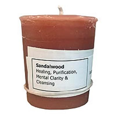 Sandalwood votive candle by Sacred Path Candles